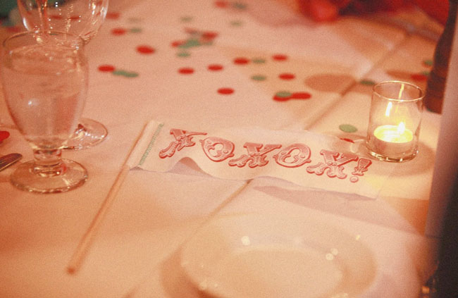 xoxo wedding flag banner