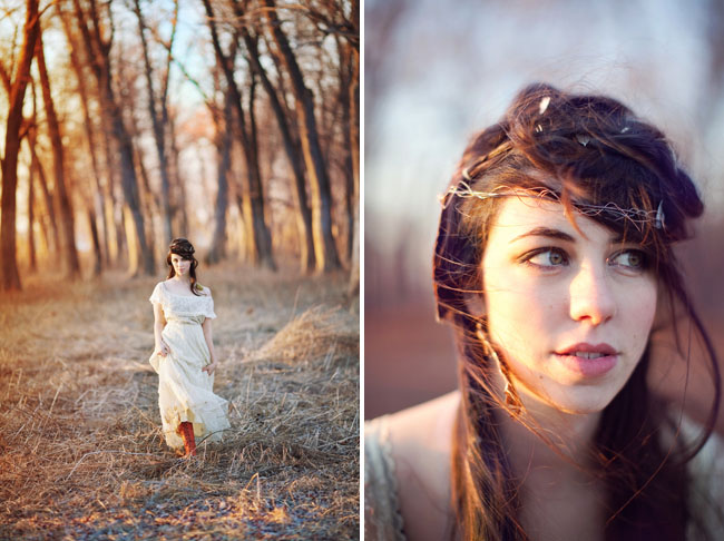 bridal session woods