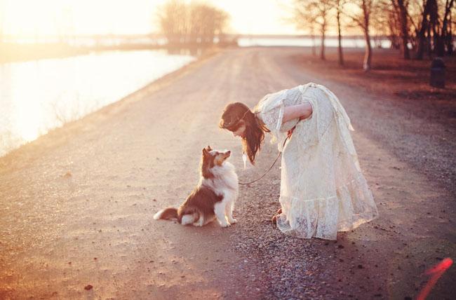 bridal session dog