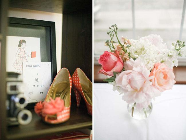coral bridal shoes