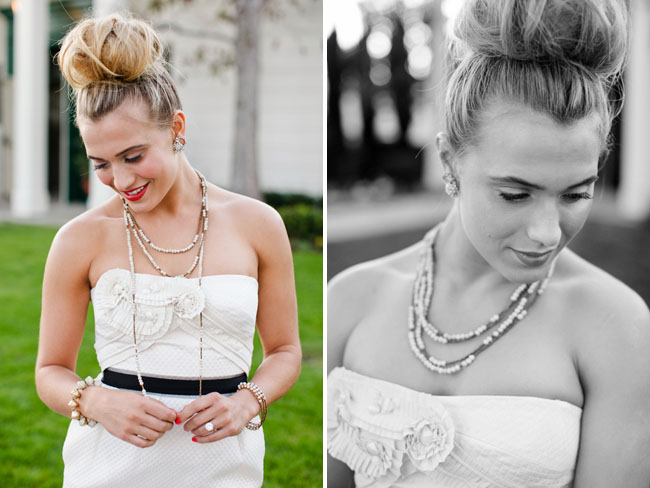 bridal top hair bun