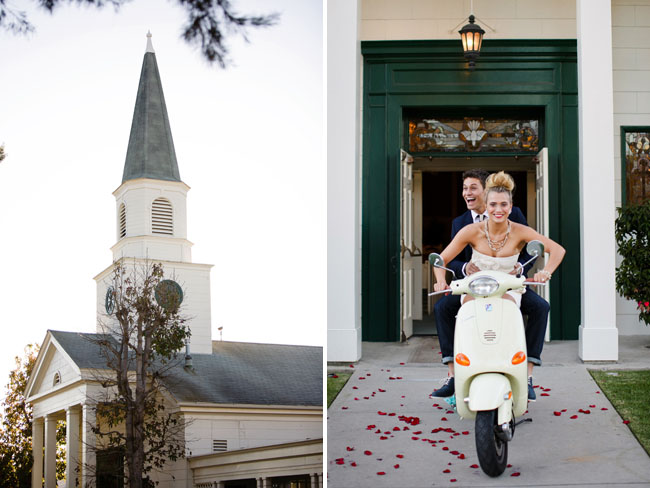 vespa wedding exit