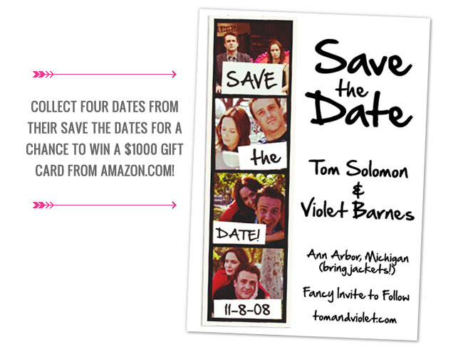 save the date five year engagement