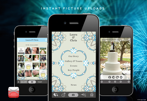 Create your own wedding app with appy couple green wedding shoes wedding app appy couple junglespirit Choice Image