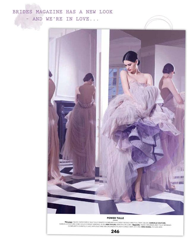 Brides Magazine Purple Dress