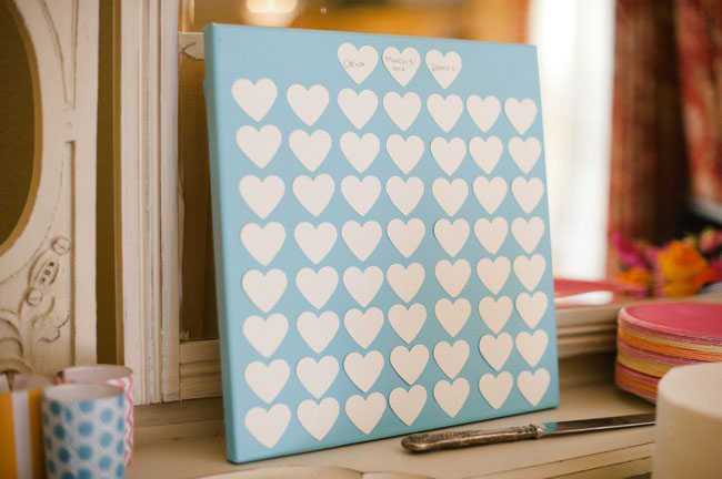 heart guest book