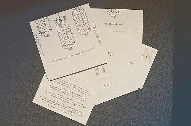 birdcage invitation design
