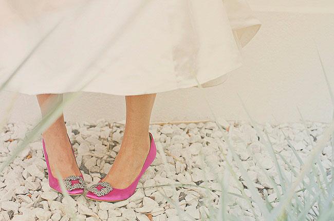 hot pink bridal shoes