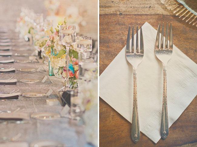 mr and mrs engraved forks