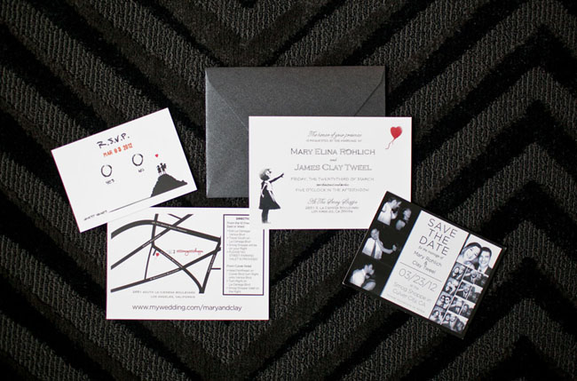 banksy wedding invitations