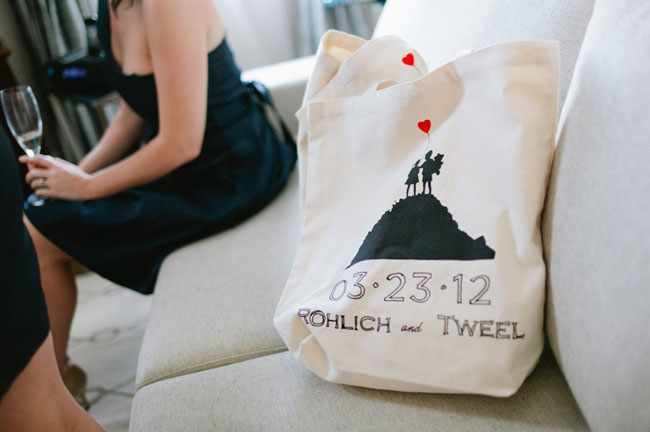 banksy wedding tote