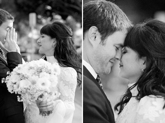 bride and groom banksy wedding