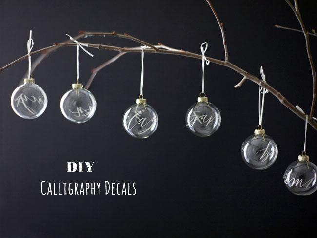 DIY Calligraphy decals