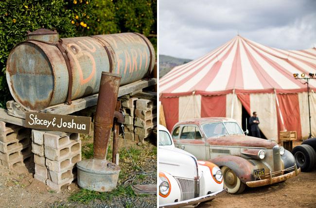 big tent circus wedding