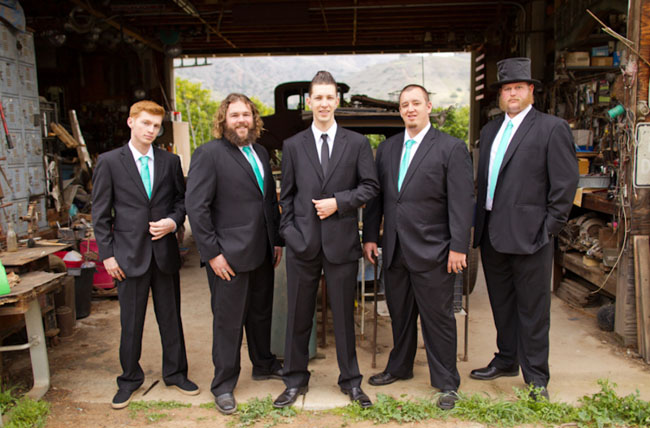 groomsmen in suits