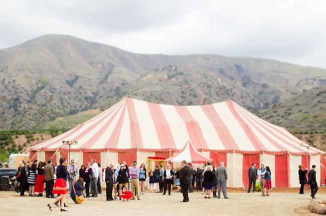 circus big tent wedding
