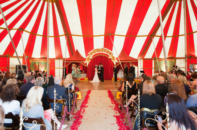 circus big tent wedding