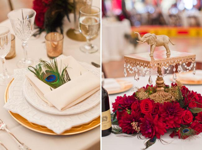 circus wedding reception details