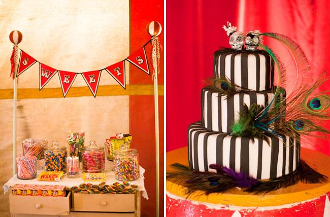 circus wedding cake