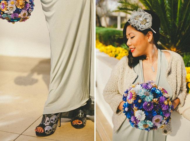 colorful paper bouquet