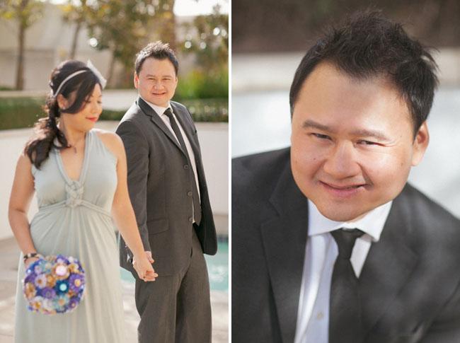 vegas wedding bride and groom