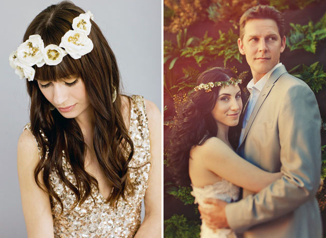 boho floral crowns wedding