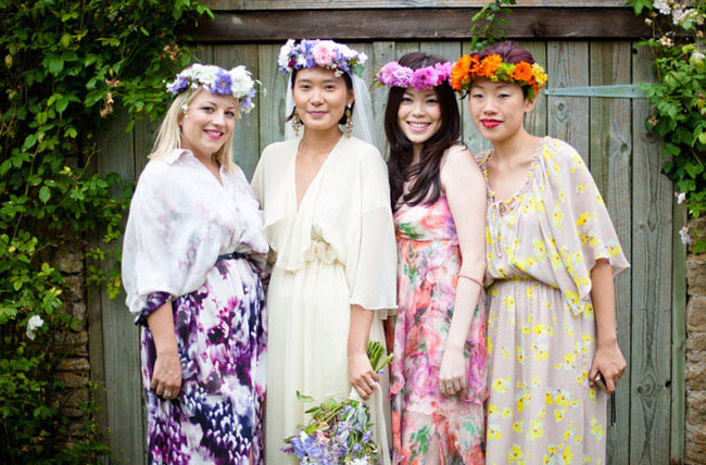 floral crowns bridesmaids