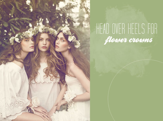 Head Over Heels For Flower Crowns Green Wedding Shoes