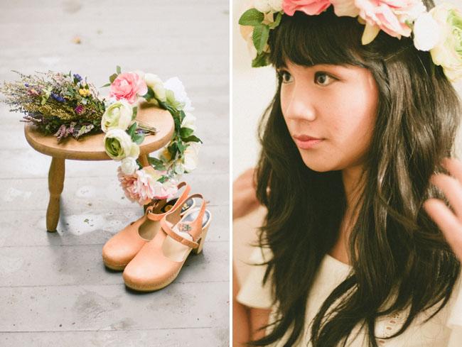 floral crown bride