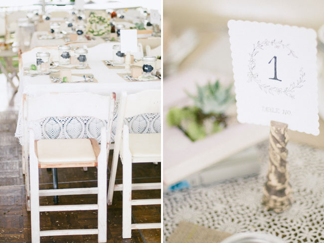 floral type table numbers