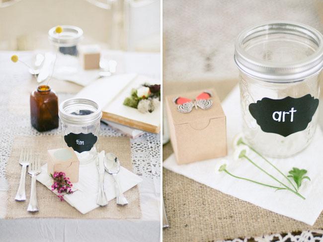 chalkboard mason jar glasses
