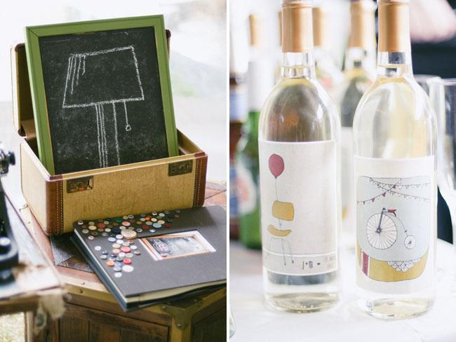customized wine bottle sticker wedding