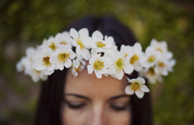 flower crown DIY magnolia blooms