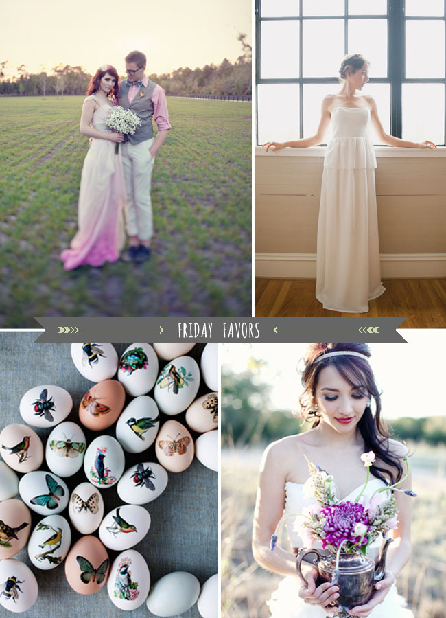 Friday Favors with a Pink Ombre Dress | Green Wedding Shoes ...