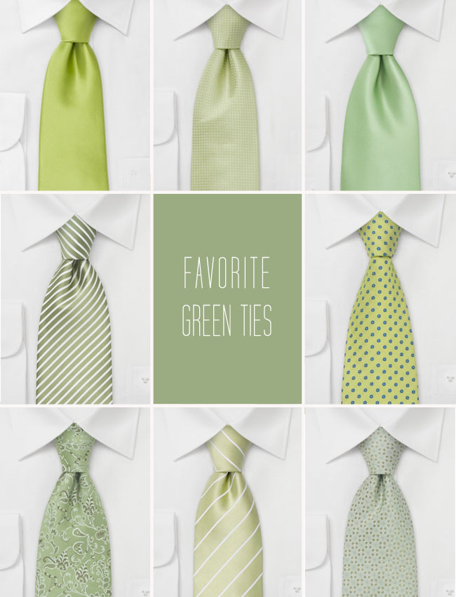 green ties wedding
