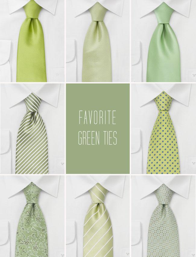 green ties wedding