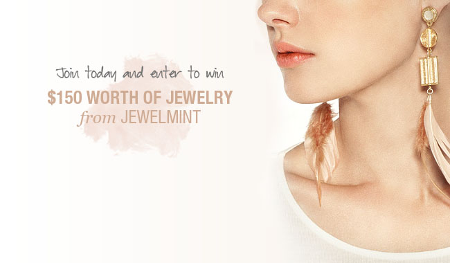 jewelmint feather earrings