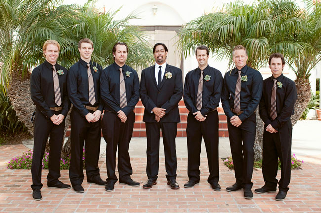 groomsmen wearing black