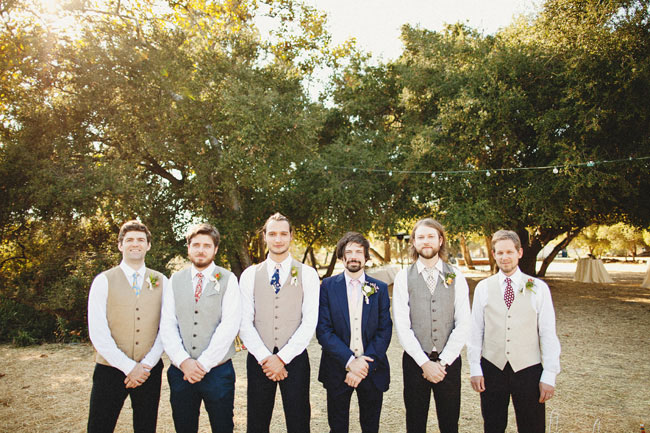 groomsmen in vests