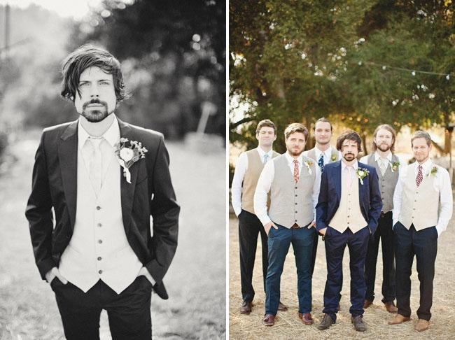 groomsmen in vests