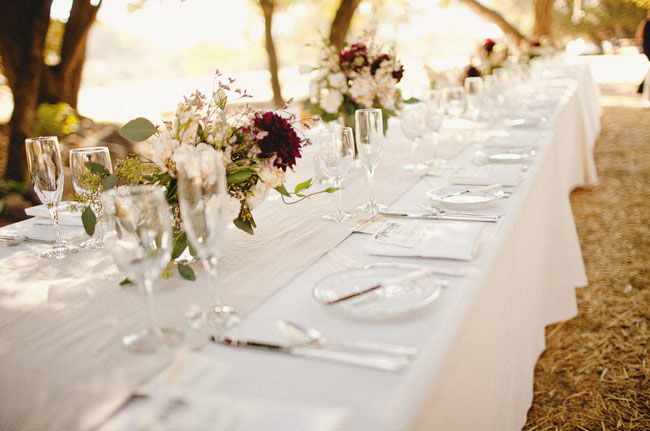 simple wedding tablescape