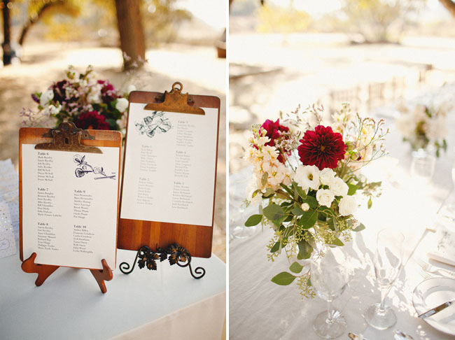 table seating clip boards