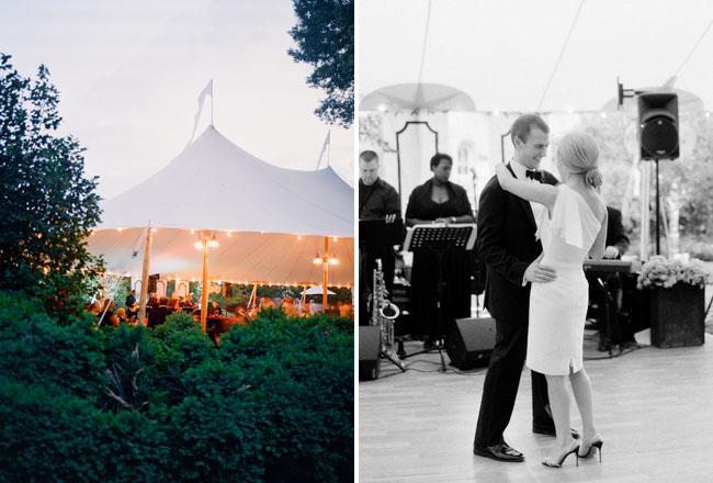 tent wedding, first dance