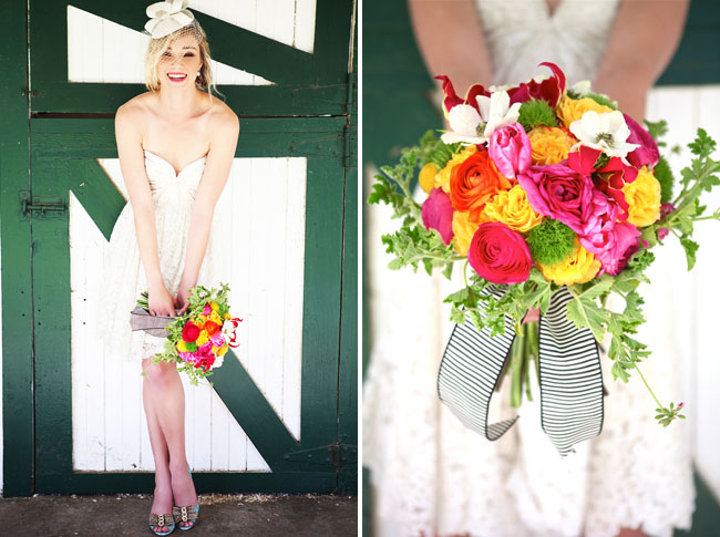 kentucky derby inspiration bright bouquet