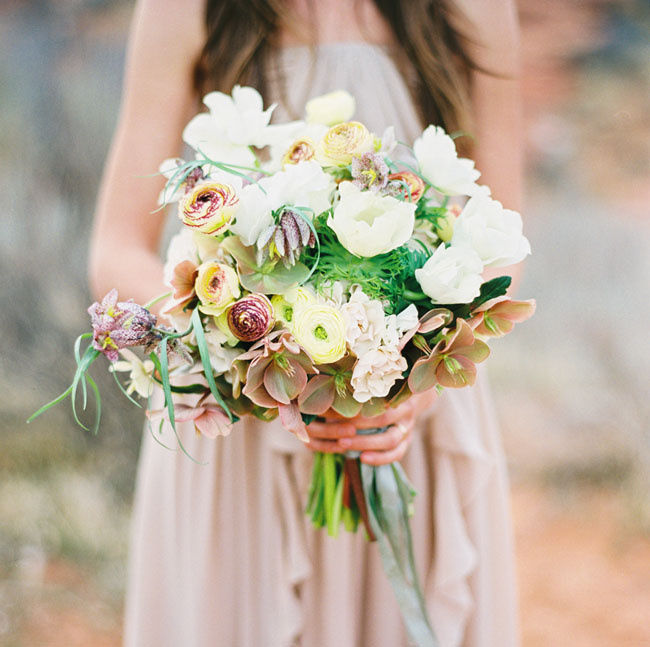 whimsical desert bridal bouquet