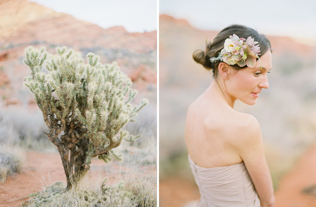 desert floral hair piece