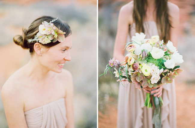whimsical desert boquet