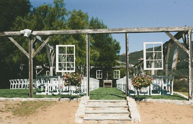 outdoor/indoor ceremony frames