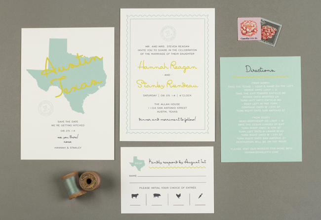 texas wedding invitations