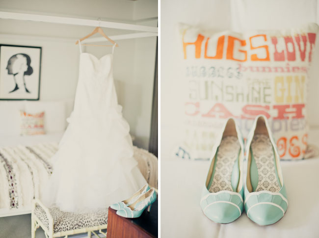 mint colored bridal shoes